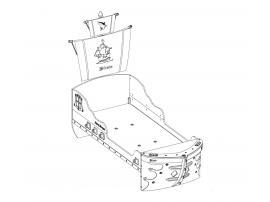 Кровать-корабль Pirate (1308) изображение 4