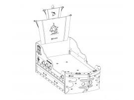 Кровать-корабль Pirate (1310) изображение 5