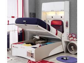 Кровать с подъемным механизмом и стеллажом First Class 100х200 (1706) изображение 6