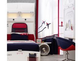 Кровать с подъемным механизмом и стеллажом First Class 100х200 (1706) изображение 9