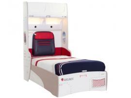 Кровать с подъемным механизмом и стеллажом First Class 100х200 (1706) изображение 1