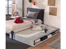 Кровать выдвижная с полочками Trio 90х190 (1305) изображение 3