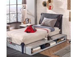 Кровать выдвижная с полочками Trio 90х190 (1305) изображение 2
