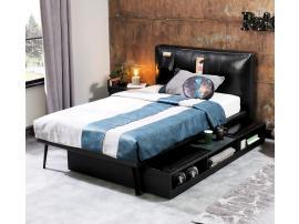 Кровать выдвижная с полками Dark Metal (1310) изображение 2