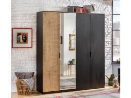 Шкаф 4-х дверный Black (1005) изображение 2