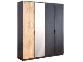 Шкаф 4-х дверный Black (1005) изображение 1