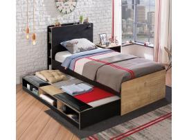 Выдвижная кровать с полками Black (1308) изображение 2