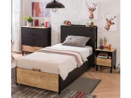 Кровать с подъемным механизмом Black 100x200 (1705) изображение 2