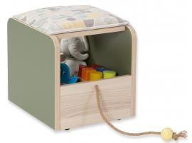 Пуф-ящик для игрушек Montessori (1901) изображение 1