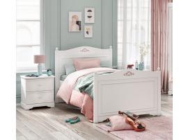 Кровать Rustic White 100x200 (1302) изображение 2