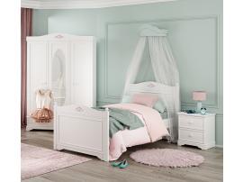 Кровать Rustic White 100x200 (1302) изображение 3