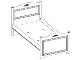 Кровать Rustic White 100x200 (1302) изображение 4
