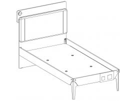 Кровать Duo Line 100x200 (1310) изображение 3