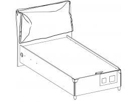 Кровать с подъемным механизмом Duo 100x200 (1705) изображение 3