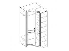 Шкаф для одежды 2-х дверный, угловой 21.100
