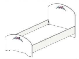 Кровать Белоснежка (без рисунка) 93K030