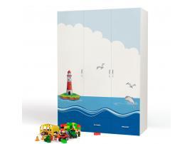 Шкаф 3-х дверный Океан (Адвеста) изображение 1