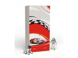 Шкаф 2-дверный La-Man (красная) изображение 1