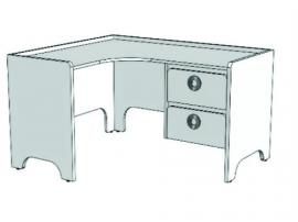 Стол письменный угловой MST214Q Клюква Мини изображение 2