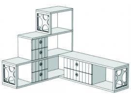 Горка 3-х этажная угловая с 6-ю ящиками VGC1Q Velvet изображение 2