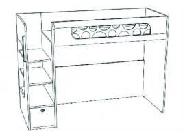 Кровать-чердак с ящиком VBR02Q Velvet изображение 2