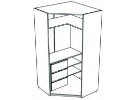 Шкаф-трапеция с ящиками Junior JSU31Q с рисунком изображение 2