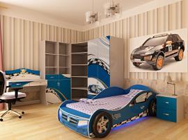 Кровать машина Formula (синяя) изображение 2