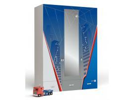 Шкаф 3-дверный с зеркалом Человек-Паук изображение 1