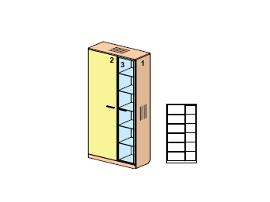 Шкаф с подсветкой Стилло 65H007
