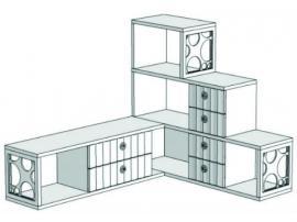 Горка 3-х этажная угловая с 6-ю ящиками VGC1Q Velvet изображение 1