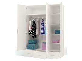 Шкаф 3-х дверный La-man (голубая) изображение 2