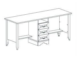 Стол на два рабочих места Классика изображение 2