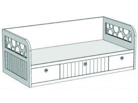 Кровать-диван с 3-мя ящиками VD3Q Velvet