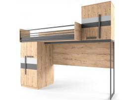 Кровать-чердак со сплошным ограждением Твист Лофт изображение 1