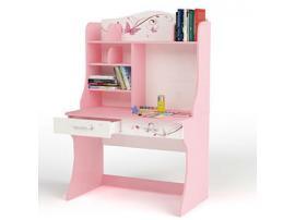 Стол с надстройкой Фея (розовый)
