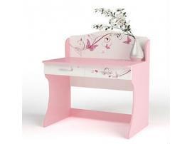 Стол без надстройки Фея (розовый)