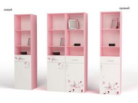 Стеллаж узкий Фея (розовый) изображение 1