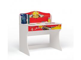 Стол без надстройки Champion (красная)
