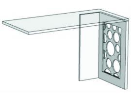 Опора для компьютерного стола с декоративной вставкой VH2 Velvet изображение 1