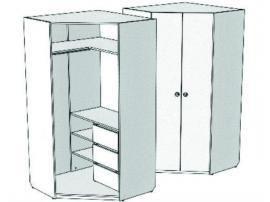 Шкаф-трапеция угловой с 3-мя внутренними ящиками VSU-31Q Velvet изображение 2
