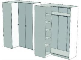 Шкаф-гардероб угловой VSU-41Q Velvet изображение 1