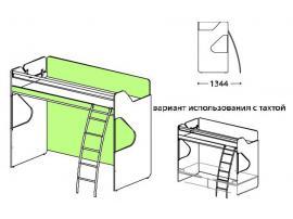 Кровать 2-х ярусная Силуэт с лестницей СФ-268904 изображение 1