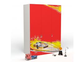 Шкаф 3-х дверный Champion (красная) изображение 1