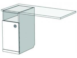 Тумба однодверная для компьютерного стола VT1-40 Velvet изображение 1