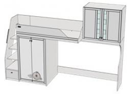 Кровать-чердак Calypso Wood 7BC1LQ / 7BC1RQ изображение 1
