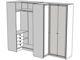 Шкаф угловой Calypso Wood 7CCBPRQ / 7CCBPLQ изображение 2