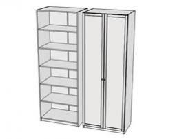 Шкаф для белья Calypso Wood 7CLA