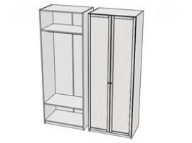 Шкаф для одежды Calypso Wood 7CLB