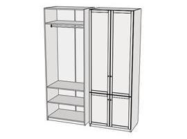 Шкаф 4-х дверный Calypso 7CLE