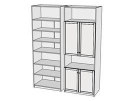 Шкаф с открытыми секциями Calypso Wood 7CLI